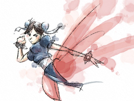 Chun Li Water Colour